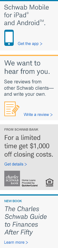 FROM SCHWAB BANK For a limited time, get $1,000 off closing costs. Get details.